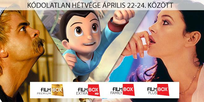 Kódolatlan Filmbox hétvége április 22-24 között