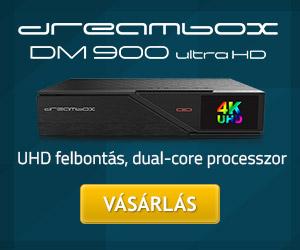 Dreambox DM900 UHD 4K vevőkészülék bemutató | DigiPortál