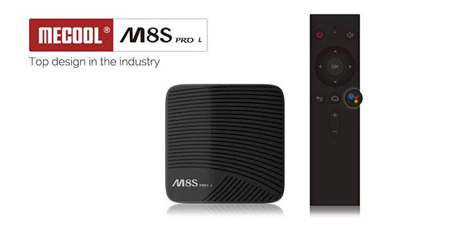 Mecool M8S PRO L TV Box hangvezérlős bluetooth távirányítóval