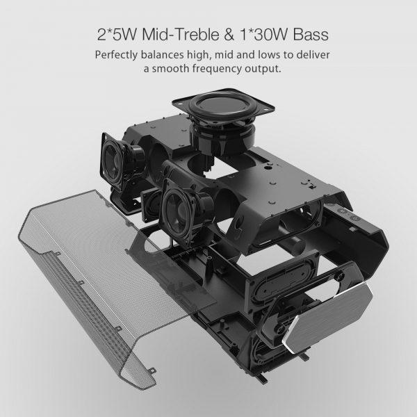 A BlitzWolf BW-AS2 Bluetooth hangszóró belseje