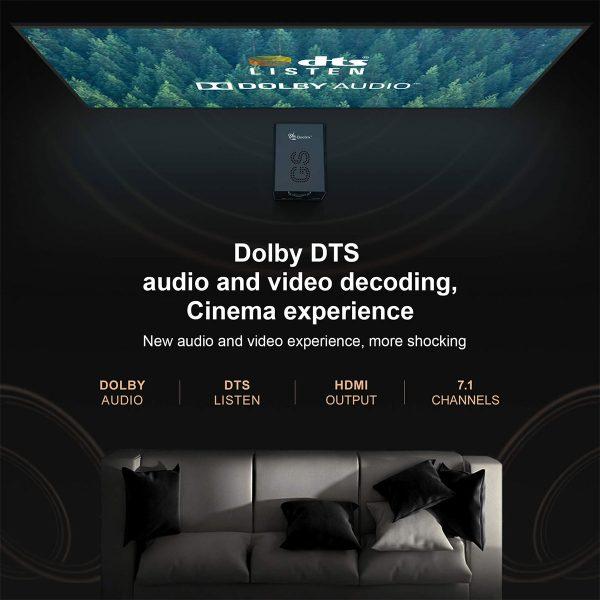 Kitűnő Dolby és DTS hanghatások