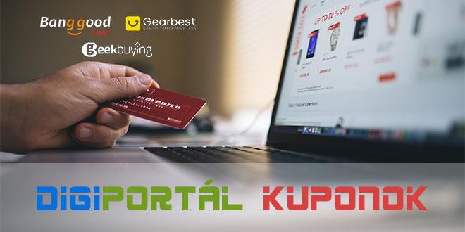 DigiPortál Kupontáblázat, Banggood, Gearbest, GeekBuying kuponok