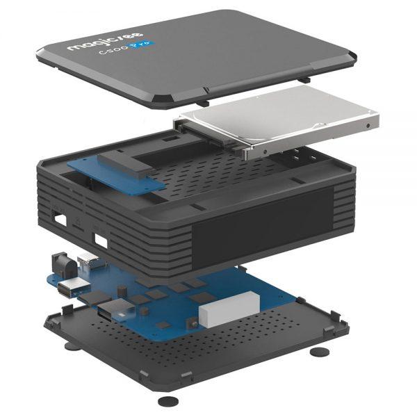 A Magecsee C500 Pro box belseje