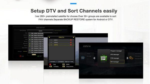 DVB-S2X és DVB-T tunerekkel felszerelve
