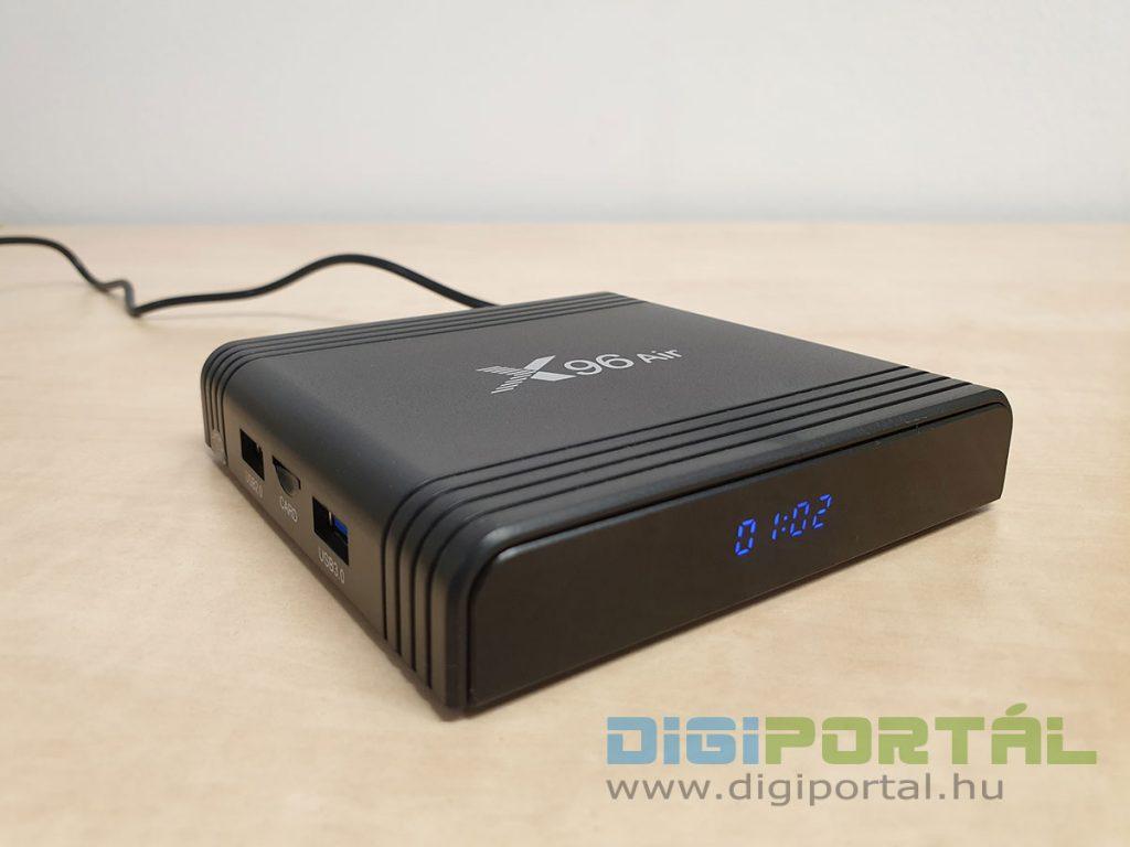 Az X96 Air TV okosító kinézete