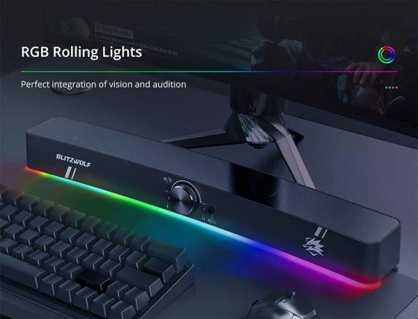 Szép, színes RGB LED megvilágítással rendelkezik