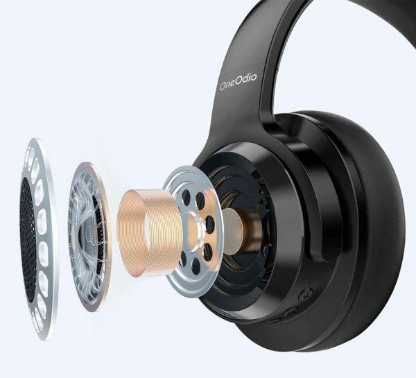 Az OneOdio A30 aktívzajcsökkentős fejhallgató hangszórója