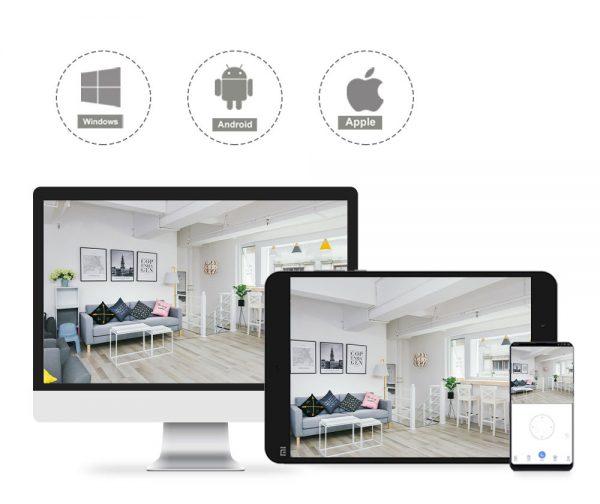 A XiaoVV okoskamera telefonos alkalmazással is vezérelhető