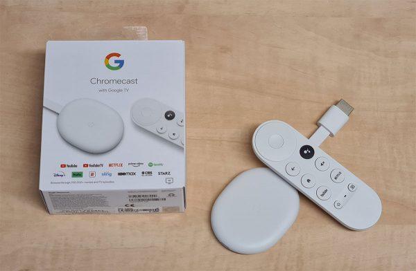 A Chromecast Google TV-vel TV Box és a doboza