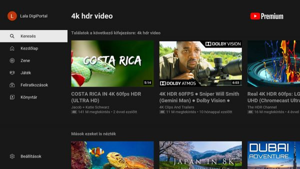 A YouTube is jól működik az X96 mini+ TV Box-on