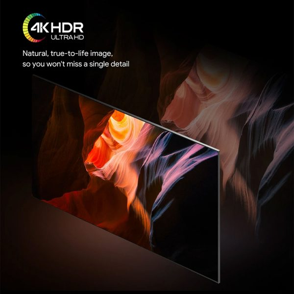 A maximum képfelbontása 4K UHD és HDR is van