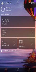 Az Oclean Z1 applikáció kezdőképernyője