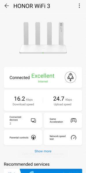 A mobilappban egyszerűen kezelhetjük a router-t