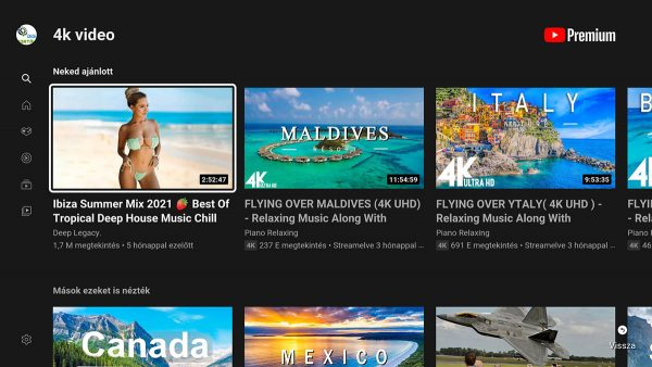 YouTube 4K is van rajta